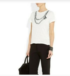 J crew Printed Burnt Out Cotton Tee